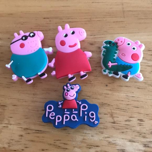 Peppa Pig Croc Charm Lot Daddy Mommy